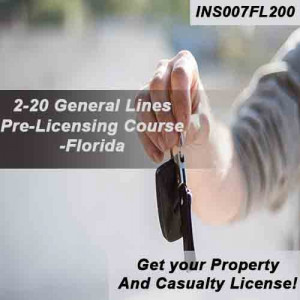 Florida - 2-20 GENERAL LINES AGENT ONLINE ONLY COURSE (INS007FL200)